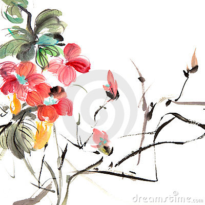 Free Chinese Traditional Painting Royalty Free Stock Photography - 18835357