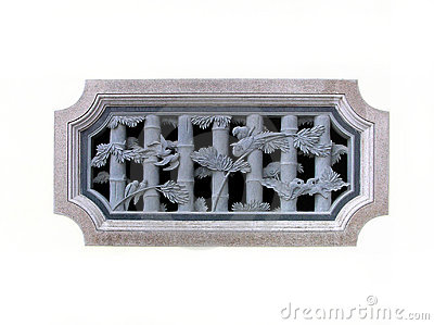 Chinese traditional stone carved window