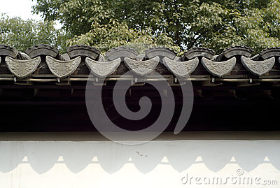A Chinese traditional style roof