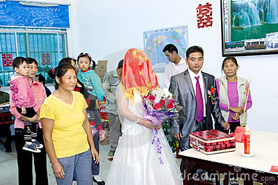 Chinese traditional wedding Editorial Photography
