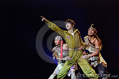 Chinese trios dance : Hump Love Editorial Stock Image