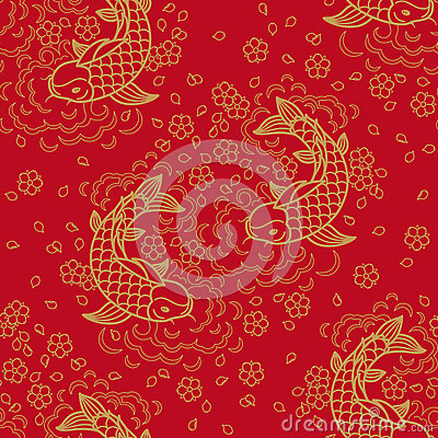 Free Chinese Vector Seamless Pattern Royalty Free Stock Photos - 58112788
