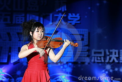 A Chinese Violinist Editorial Stock Image