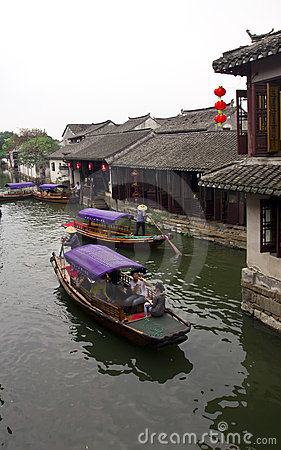 Chinese water village Editorial Stock Photo