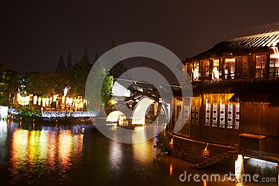 The Chinese watery town buildings
