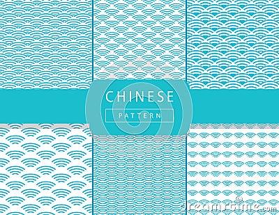Chinese wavy pattern