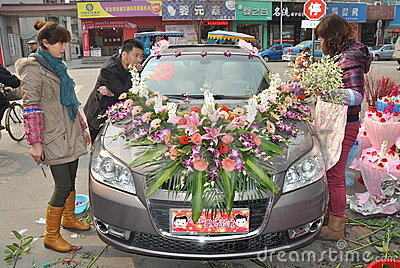 Chinese Wedding Car Editorial Image