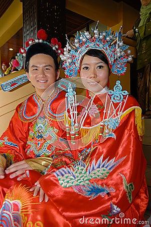 Chinese wedding couple Editorial Image