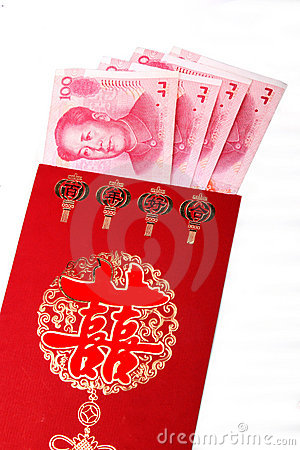 Chinese wedding red packets