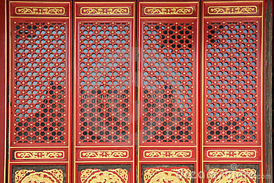 Chinese window and door