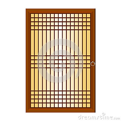 Chinese window isolated illustration
