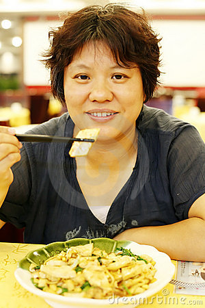 Chinese woman dining