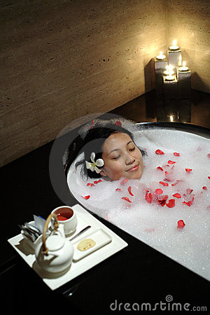 Chinese Woman at Spa