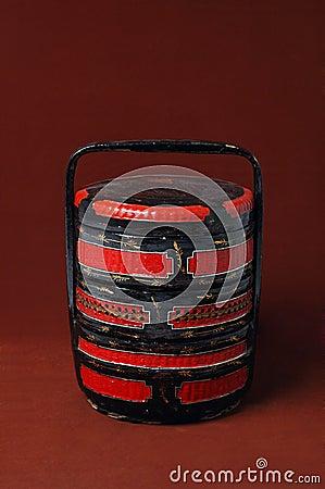 Chinese wood wedding basket royalty free stock image image 8371936