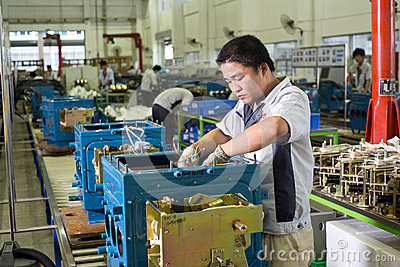 Chinese workers Editorial Photo