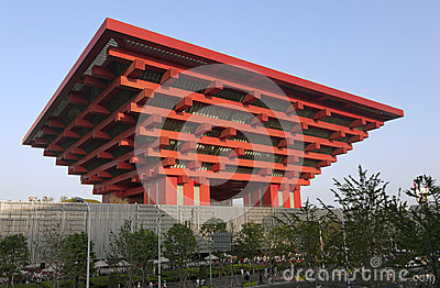 Chinese World Expo Pavilion Editorial Stock Photo