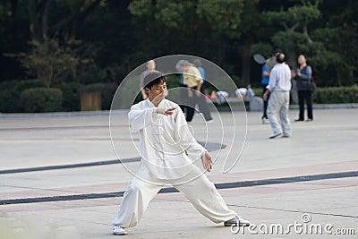 Chinese wushu-taiji
