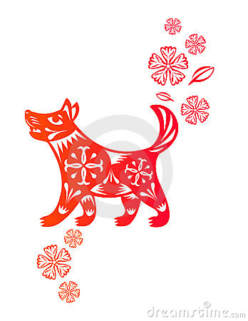 Chinese year of Dog puppy