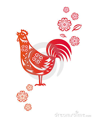 Chinese year of Rooster Chicken