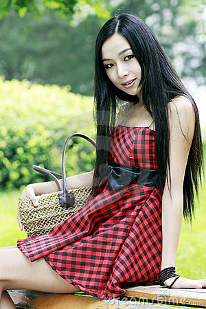 Chinese young girl outdoor