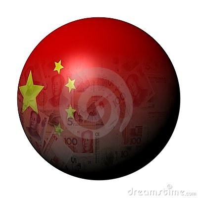 Chinese yuan flag sphere