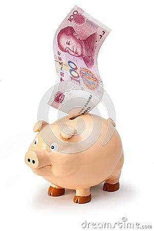 Chinese China Yuan Money Piggybank