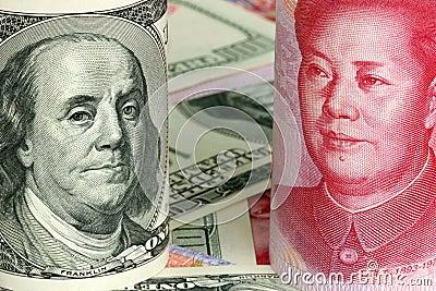 Chinese yuan and us dollars