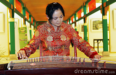 Chinese zither .