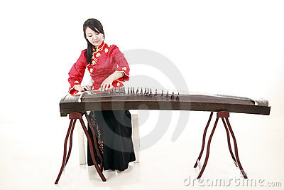 chinese zither performer royalty free stock images image