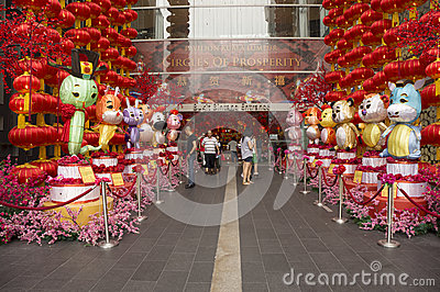 Chinese Zodiac decoration Editorial Photography