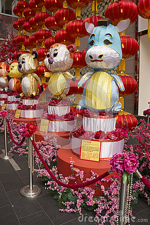 Chinese Zodiac decoration Editorial Stock Image