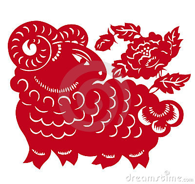Chinese Zodiac of sheep year
