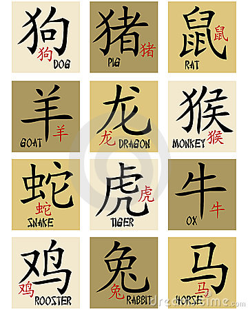 Free Chinese Zodiac Signs Stock Images - 13316244