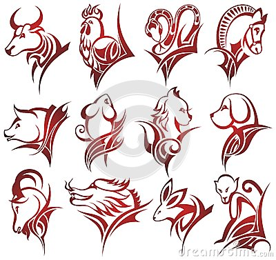 Chinese Zodiac Signs Stock Vector - Image: 46314485