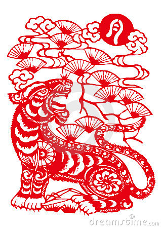Chinese zodiac of tiger year royalty free stock photography image