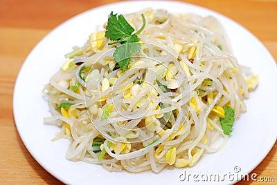 Chinesische Nahrungsmittelsojabohnensprossen