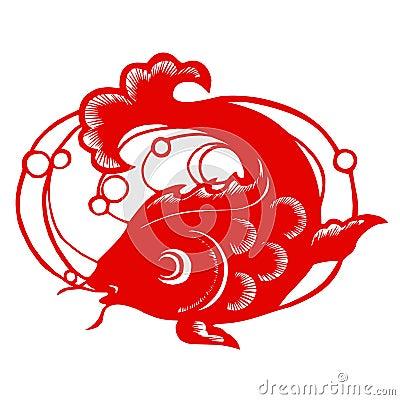 chinesischer tierkreis der fische stockfotos bild 9303493. Black Bedroom Furniture Sets. Home Design Ideas