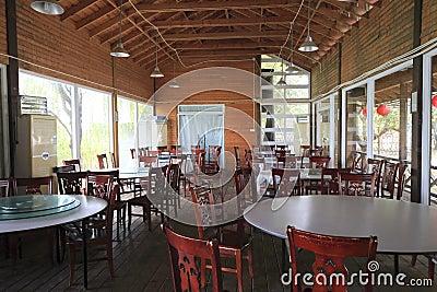 Chinesisches Restaurant in der Landschaft Redaktionelles Foto