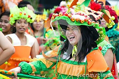 Chingay предваротельный просмотр парада 2011 Редакционное Стоковое Фото