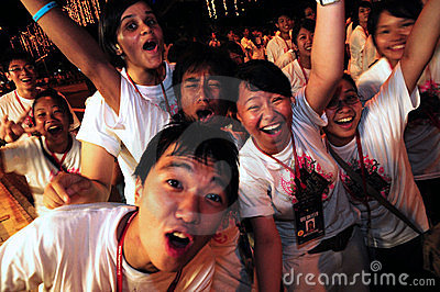 Chingay parade ushers Editorial Stock Image