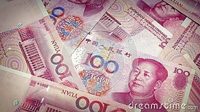 Chinois Yuan Banknotes Rotating banque de vidéos