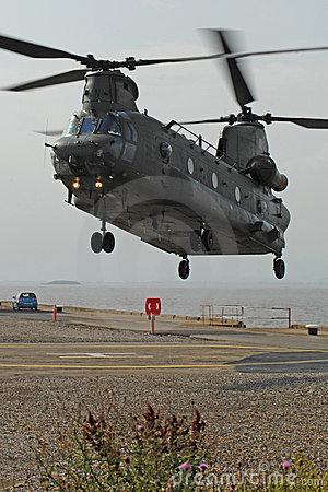 Chinook Helicopter Dock Landing