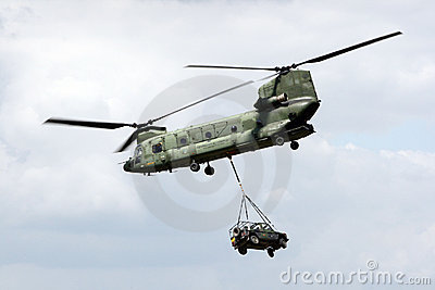 Chinook transport helicopter Editorial Image