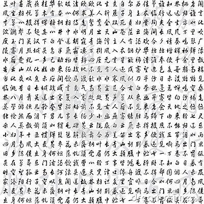Chiny i Japan kaligrafia