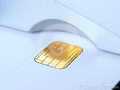 Chip card in the slot