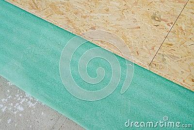 Chipboard floor installation