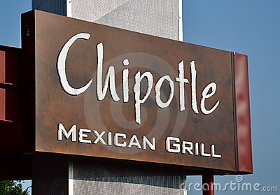 Chipotle Mexican Grill sign Editorial Image