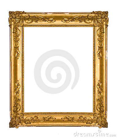 Free Chipped Vintage Gold Ornate Frame Royalty Free Stock Image - 4693286