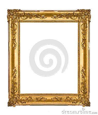 Chipped vintage gold ornate frame