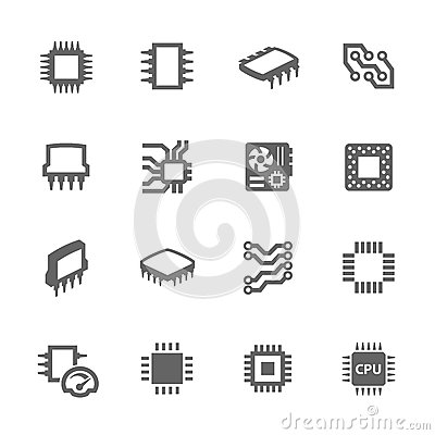 Free Chips And Microscheme Icons Stock Photos - 52659823